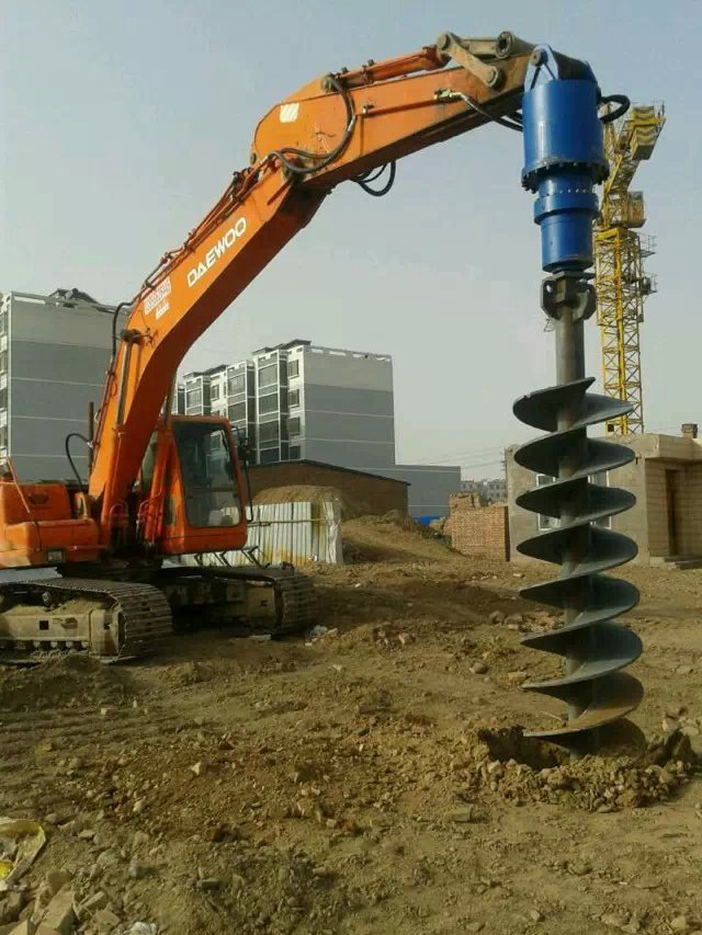 Excavator Attachments Ground Hole Drilling Earth Auger Machine For Sale -  Buy Earth Auger Button Hole,Small Hole Drilling Machine,Used Auger Drilling