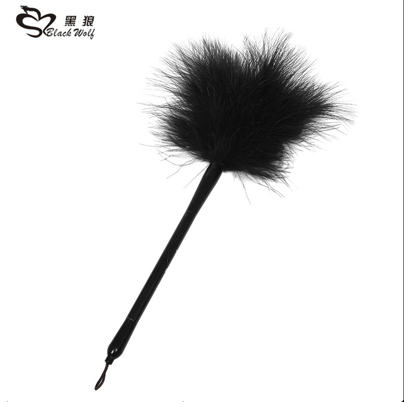 Black wolf Feather flirting wholesale adult sex toys