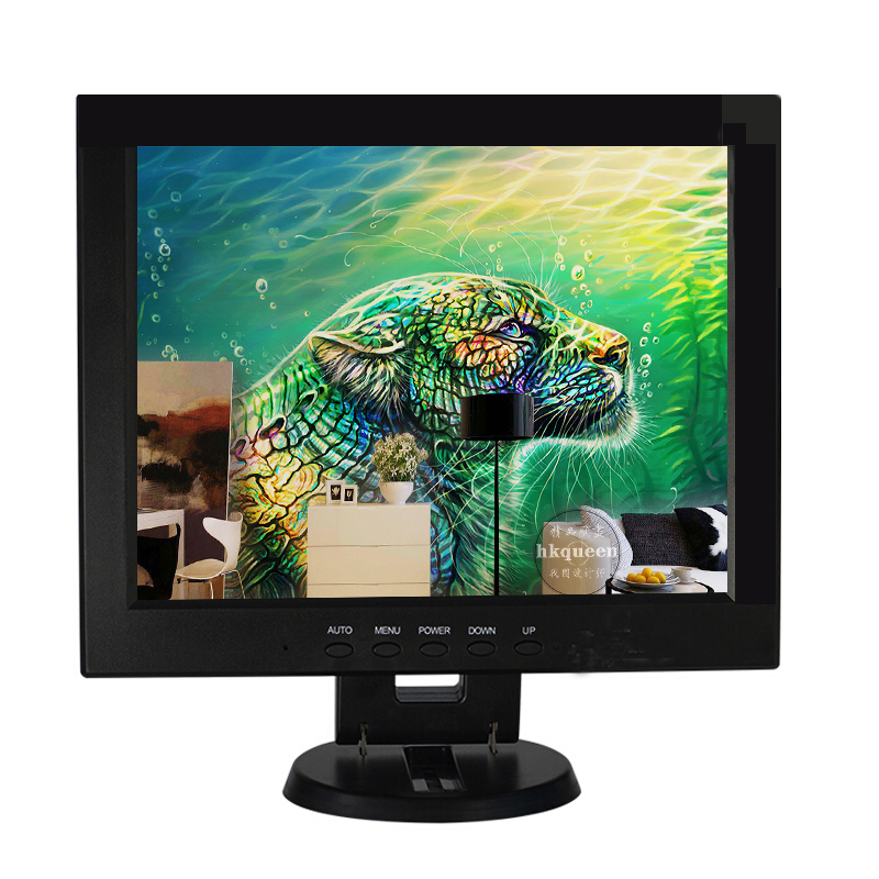 Folding stand high resolution 12 inch lcd tv monitor