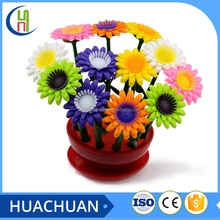 hot seling cute plastic flower shape pen,sunflower pen