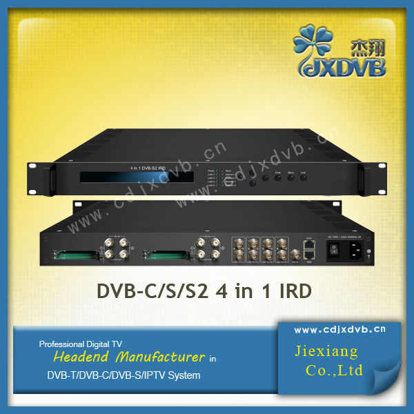 4 in 1 DVB-C/S/S2 Tuner Digital Satellite Receiver Decoder