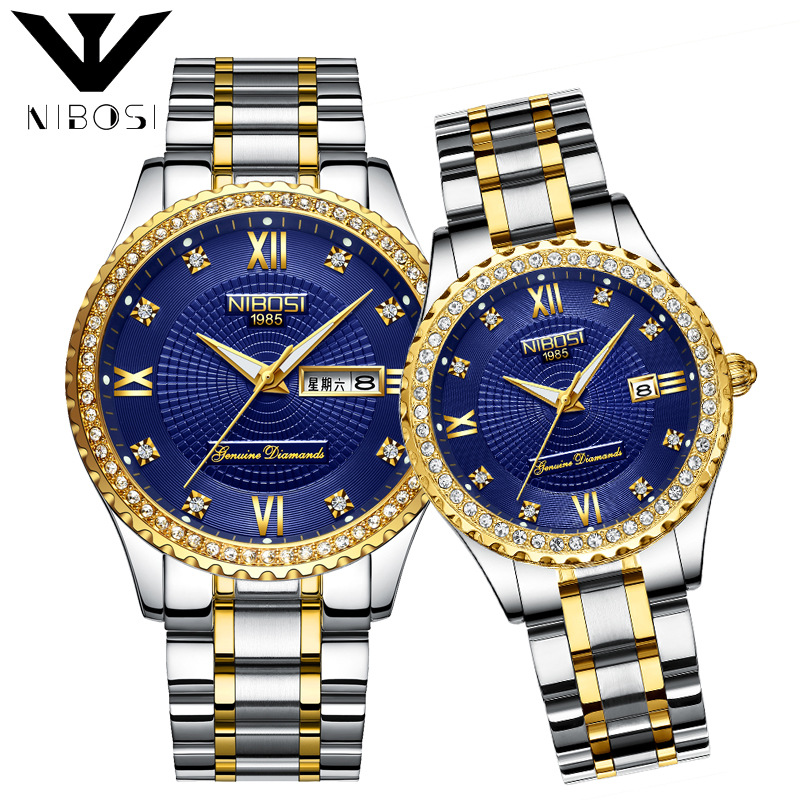 Wholesale NIBOSI Top Brand Luxury Diamonds Watch Classic Dress Quartz Watch Couple Watches фото