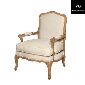Hangzhou Van Gogh Home Antique Furniture Living Room French High Back Accent Chair
