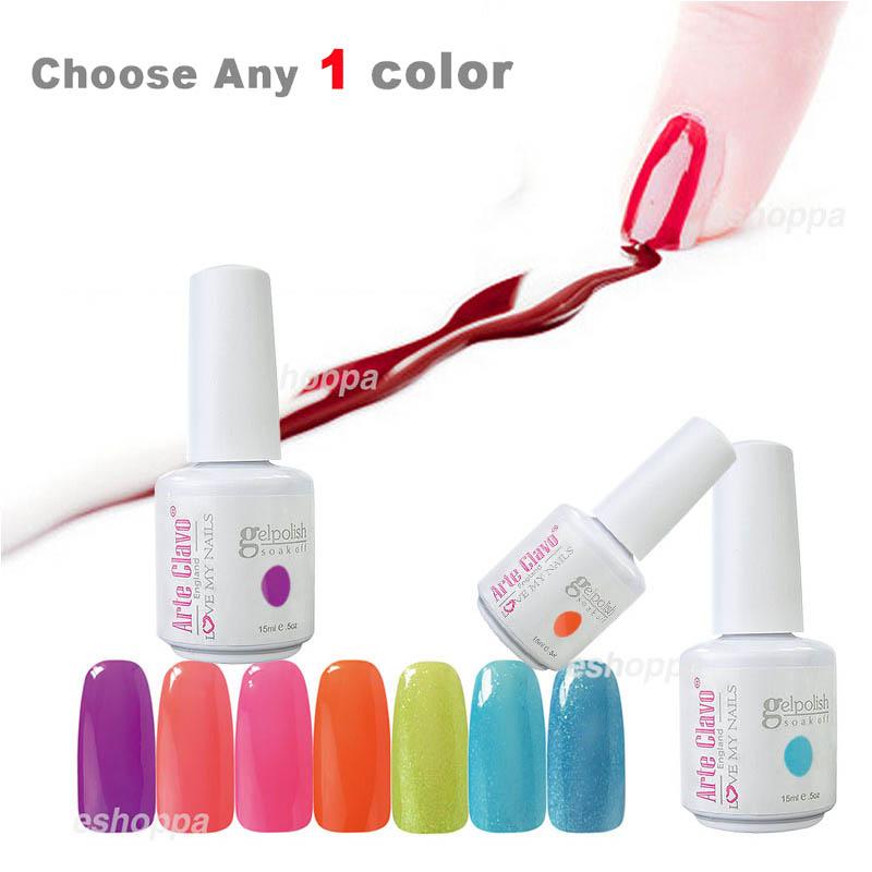Promotion Custom Design 15ml Arte Clavo Choose Any 1 Color Soak Off Gel Nail Polish Led