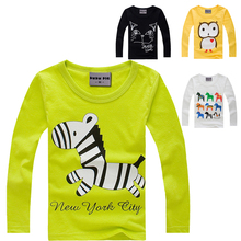 2015 Stylish cotton children t shirts long sleeve t-shirts cartoon t-shirt girls and boys' t shirt for boy's Clothing