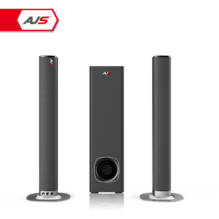 "AJS 2.1 CH staccabile sound bar a torre di stile con 5.25 ""wired subwoofer tv sound bar bluetooth home theater sistema di"