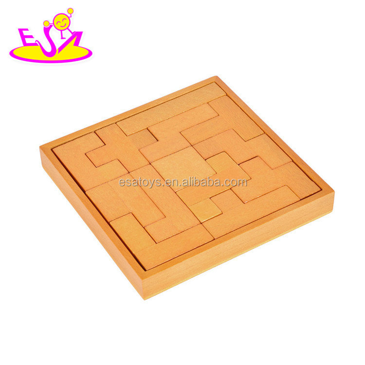 New hottest educational tetris shaped wooden kids puzzle games for brain teaser W14A171