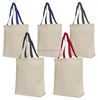 Custom Eco-Green color handle standard size cotton tote bag