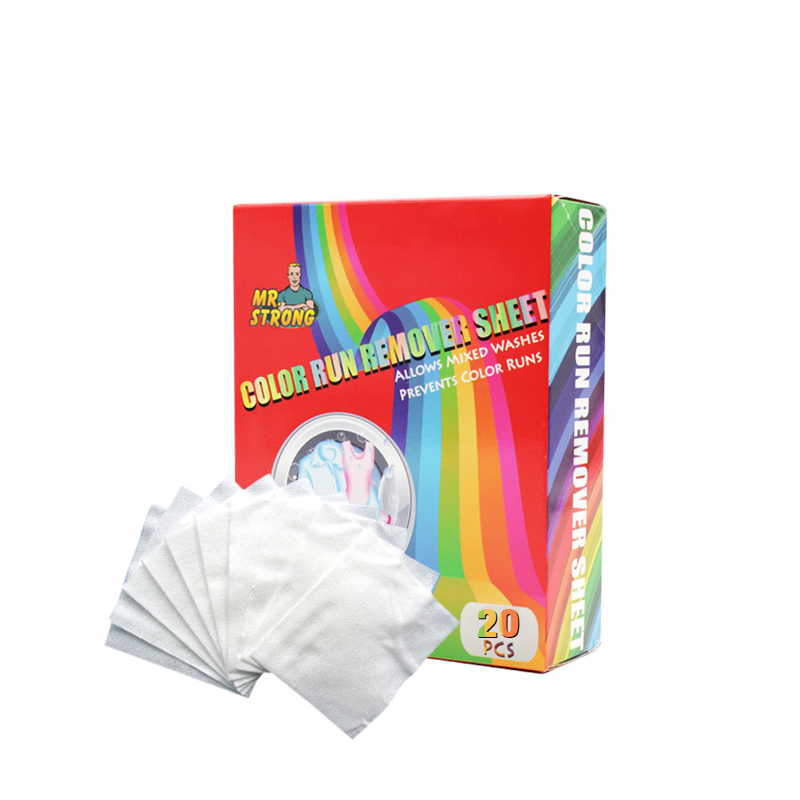 2019 Private Label Color run remover sheets