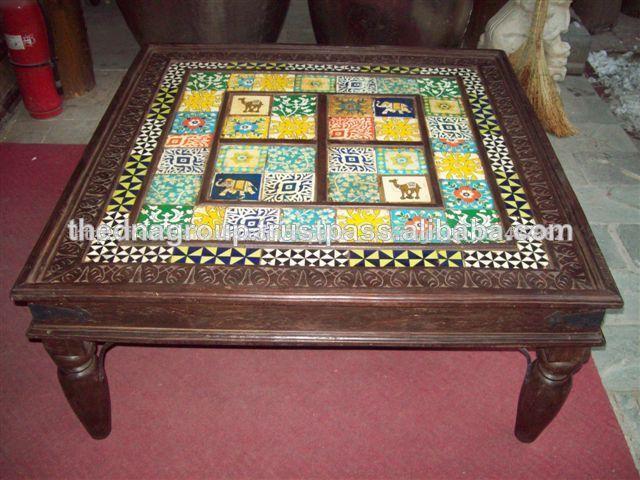 En Table De Carreaux Basse Beaux Avec Bois Céramique Armoires N0mnv8wO