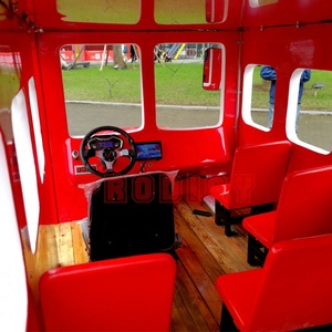 Park outdoor amusement equipment tourist electric new design tourist bus battery double deck bus for tourist for sale