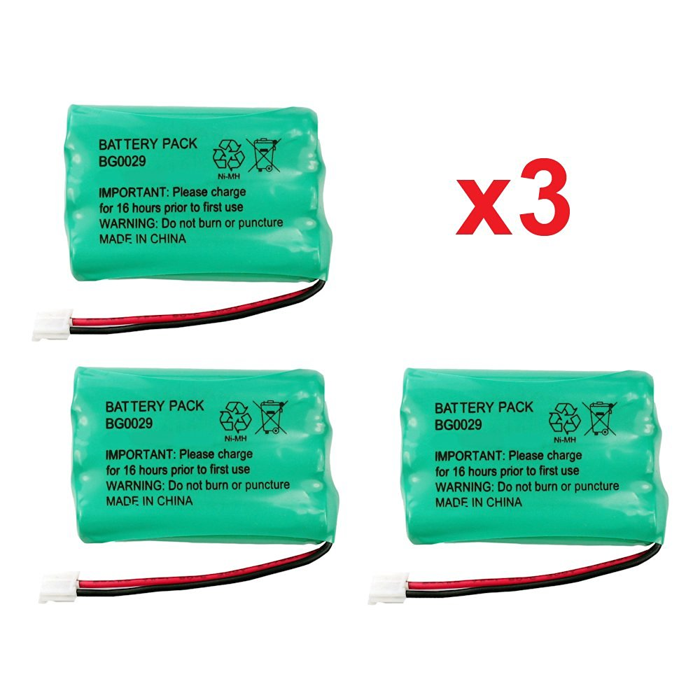 3 Fenzer Rechargeable Cordless Phone Batteries for V-Tech 89-1323-00-00 8913230000 Cordless Telephone Battery Replacement Packs