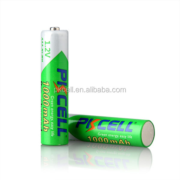 2016 original PKCELL new Ni-MH Pre-Charged AAA/Micro 1000mAh AAA NiMh rechargeable batteries
