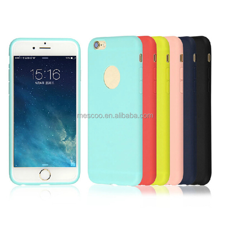 Hot Sale Cute Candy colors TPU Soft TPU Silicon phone cases for Apple iphone 5 5S I6 6S Fashion back Coque Case with logo window