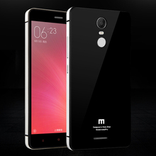 Luxury Xiaomi Redmi Note 3 Case Aluminum Frame + PC + Tempered Glass Back Battery Cover Replacement For Redmi Note3 Cases