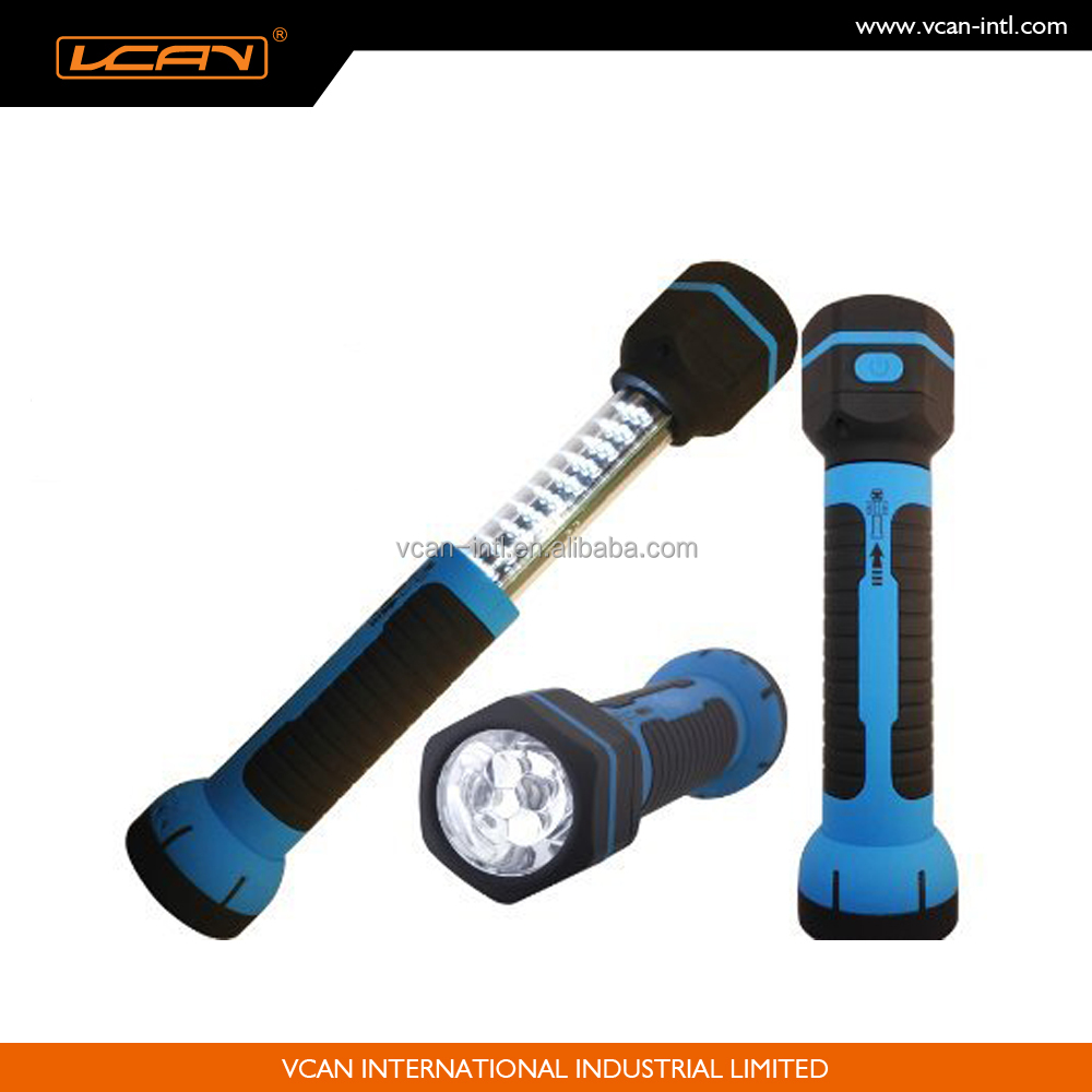 Portable 30+6LEDs Telescopic Rechargeable Work Light with Magnet