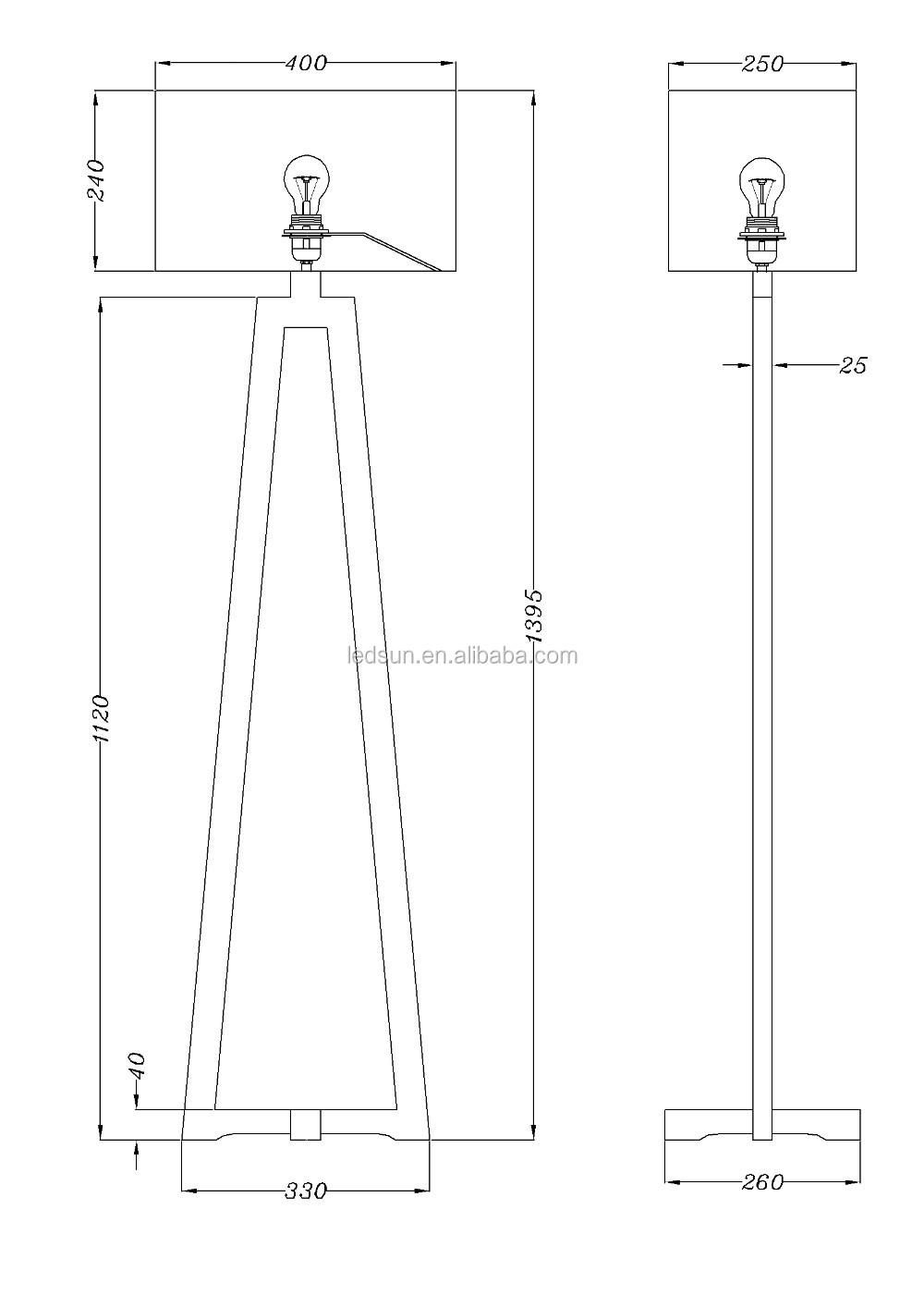 Decorative Furniture Long Wooden Floor Lamps Standing Lamps