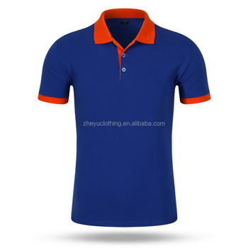 Quick dry high performance 100polyester sport polo shirts contrast color