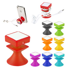 New office desk table silicone circle earphone wire organizer computer network USB data cable tie with self adhesive tape back