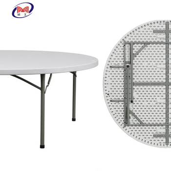 Light Weight Large Plastic Folding Round Dining Table For 10 12 People Use