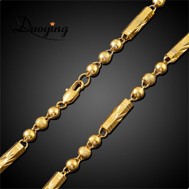 European Men's Gold Chain Necklace Personalized Gifts 18k Gold Plated Hot Style Copper alloy Jewelry New Gold Chain Design