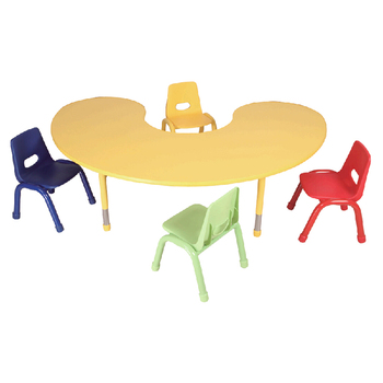 Color Nursery School Furniture Desk And Chair Set With Sgs