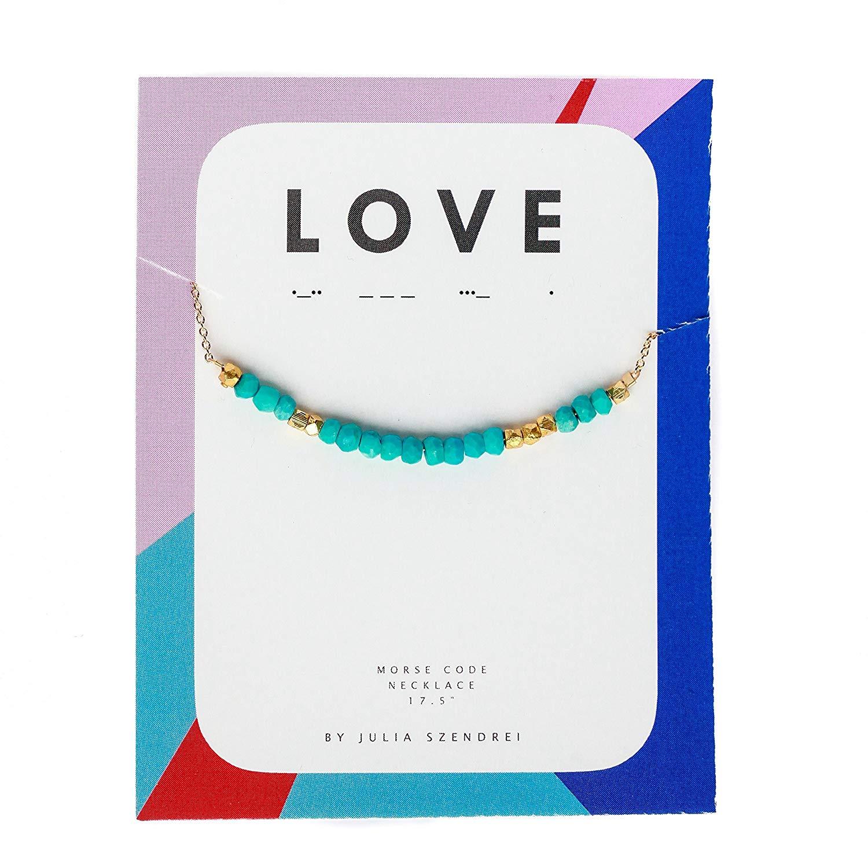"Morse Code Necklace ""LOVE"""