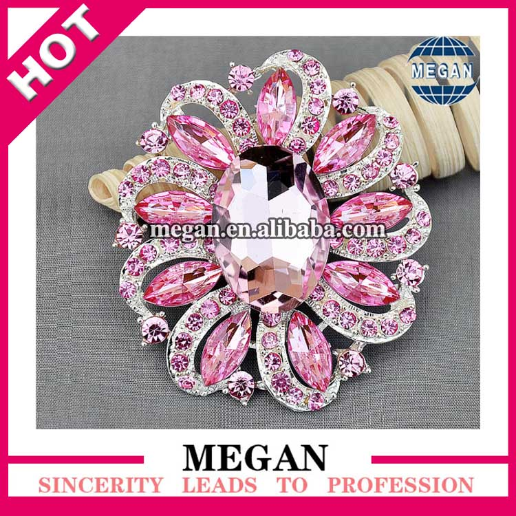 Charming large crystal rhinestone brooches with flower shape