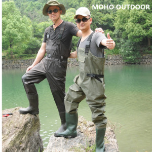 wholesale waterproof working fishing 70d 100%waterproof nylon fishing chest wader