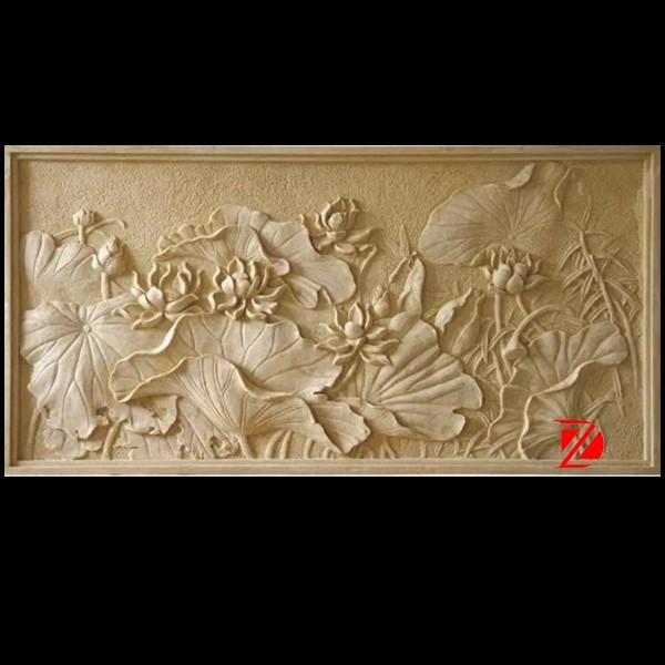 pierre fleur de mur sculpture en relief pour lotus relief en pierre id de produit 60135970901. Black Bedroom Furniture Sets. Home Design Ideas
