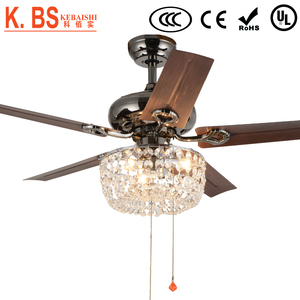 European Style Chandelier Combo Lighting 48 inches Ceiling Fan With Light