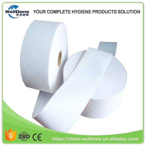 Hygiene Raw Materials Absorbent SAP Roll Airlaid Paper for Sanitary Napkin Pads