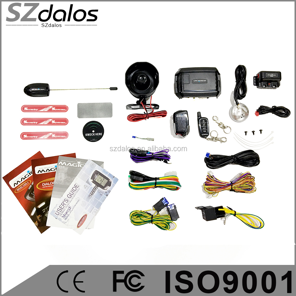 Lcd Two Way Car Alarm With Remote Engine Starter, Lcd Two Way Car ...