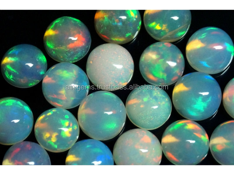 Natrual Ethiopian opal Cabochon Round 7mm wholesale price