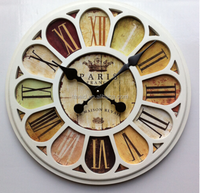 TMEID 2016 cheap hot selling MDF wall clock,antique wall clock