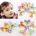 5pcs Korean Kids Hair Jewelry Accessories Cabelo Girl Dot Fancy Bow BB Hairpin Lovely Bubblegum Hair