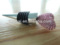 The pink heart shape bling wine stopper wine bottle stopper