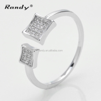 925 Silver Finger Rings Best Selling Pave Silver Midi Knuckle Gay Men Ring