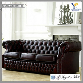 England Chesterfield Leather Sofa Cum Bed