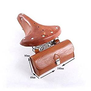 7ceea80735e Gazelle Trading Vintage Classic Comfort Leather Touring Low Rider Bicycle  Bike Cycling Saddle Seat Coffee With