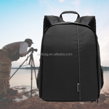 Hot sale 2017 outdoor waterproof double shoulder camera bag photography backpack