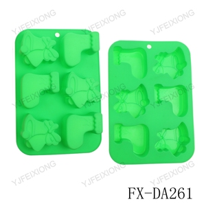 DA261 Alibaba best cake pans green silicone baking sheets silicone molding