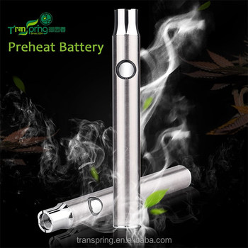 2016 new arrival 510 thread battery pre heating L0 battery cbd oil vaporizer cartridge empty