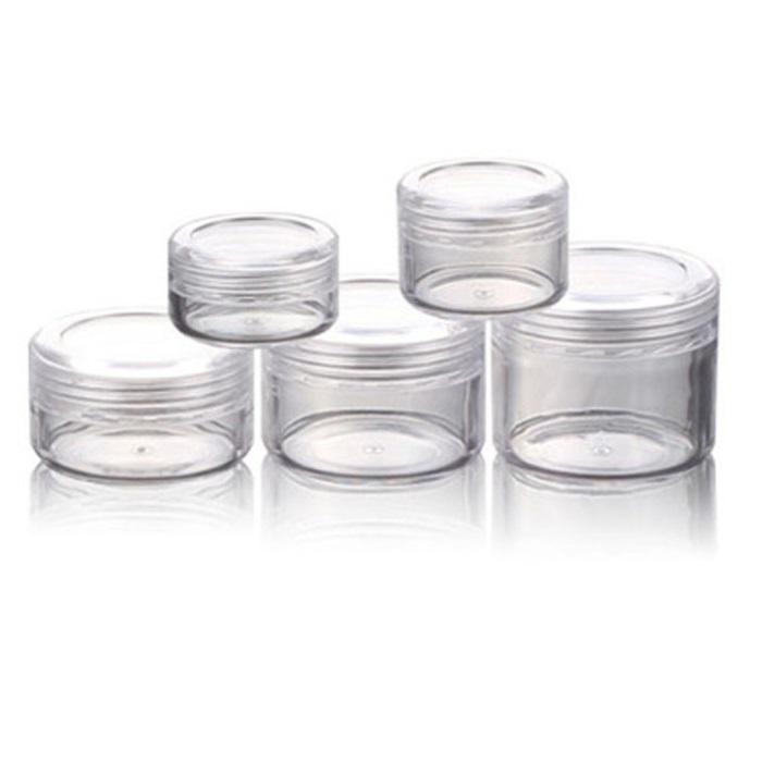 Fabrik Großhandel Kosmetische Container Reisestil Leer Kunststoff Kosmetische Container Jar