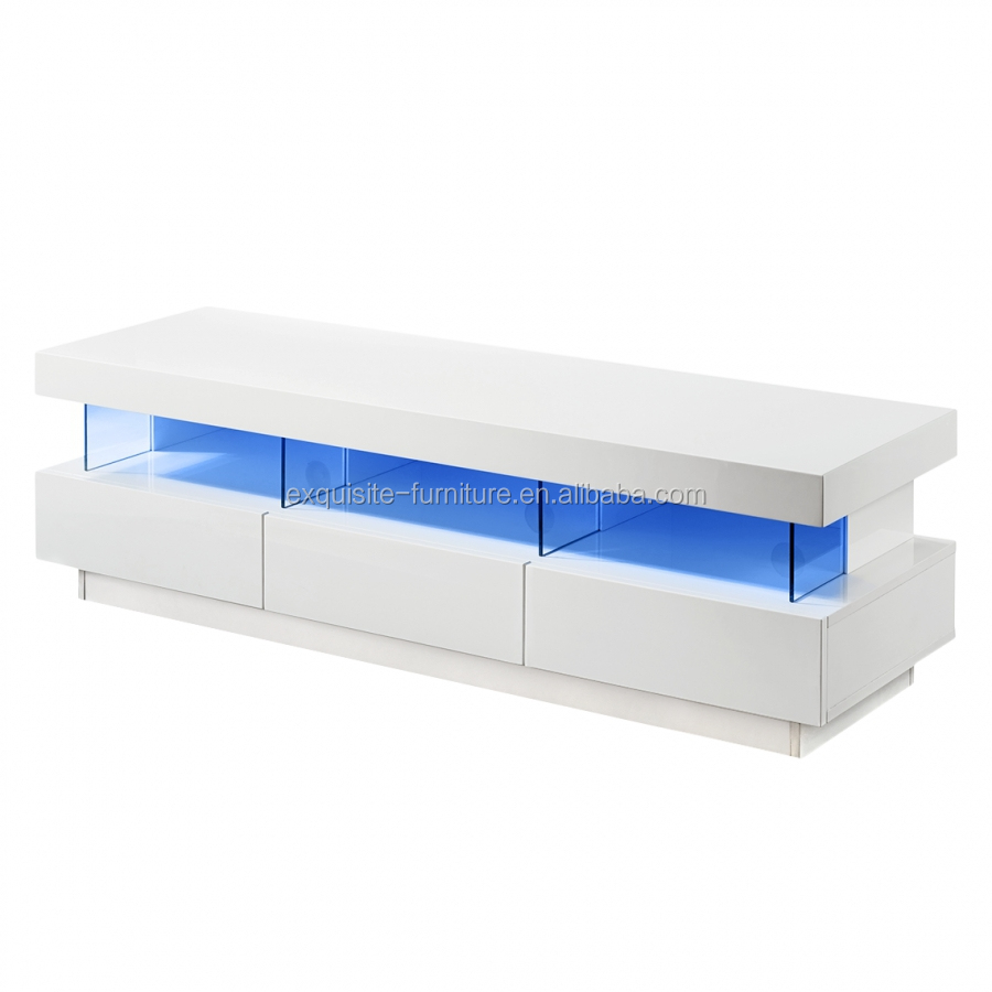 white high gloss wood led light tv stand  buy led light tv stand  -  white high gloss wood led light tv stand