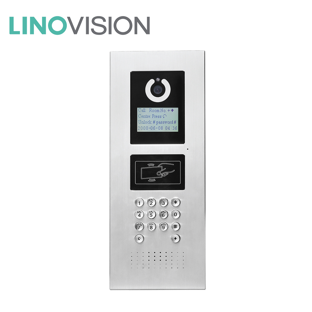 Linovision Best Outdoor Station of 2 Way Wired IP Network Intercom System for apartment