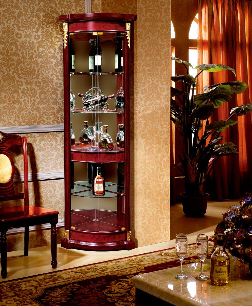 debout libre moderne conception vitrine coin en bois cadre vin de liqueur en verre vitrine pour. Black Bedroom Furniture Sets. Home Design Ideas