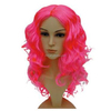 MCW-0371 Party Masquerade synthetic long women Hot curly pink wig
