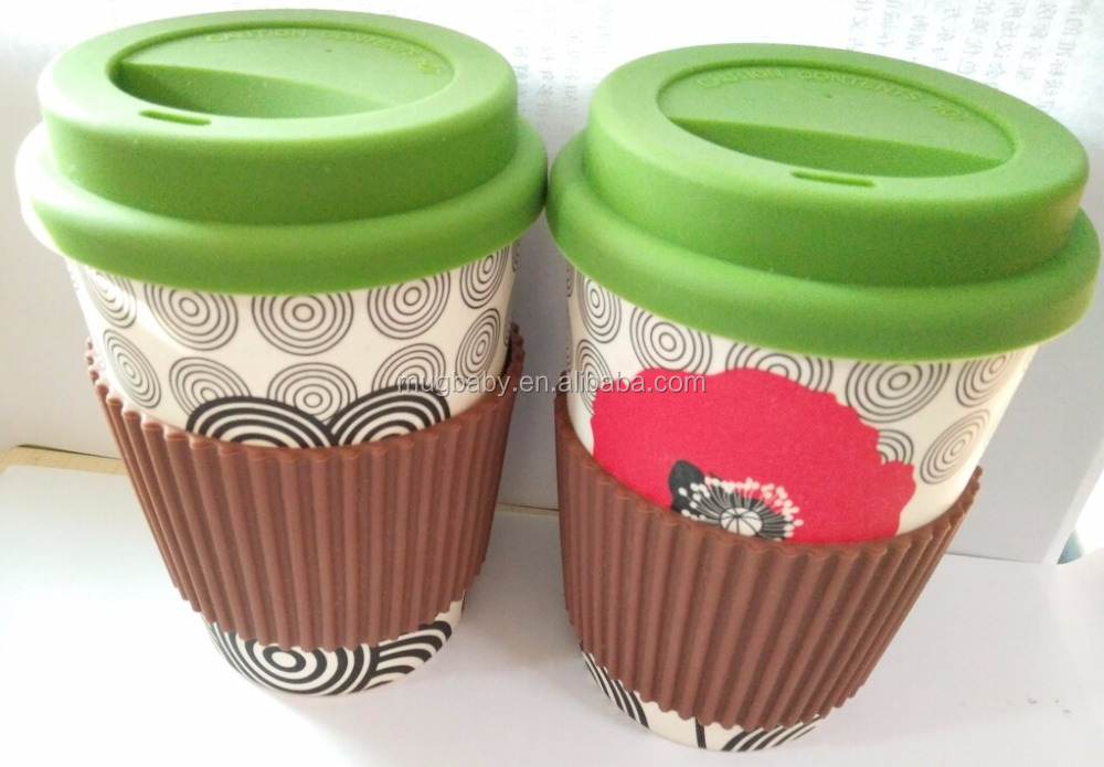 Food grade Eco friendly Bamboo Fiber Coffee Cup