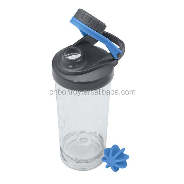 Cup Bottle Classic Loop Top Fitnessstudio Protein Shaker Fitness Flasche 16oz 450ml Blue Top mit eingelegtem Mischball